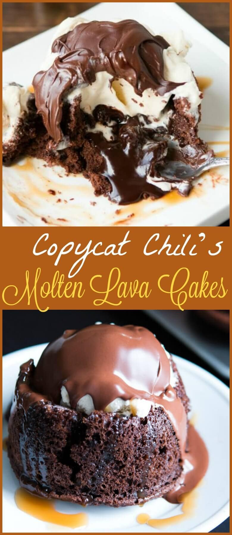 Homemade molten lava cakes are way easier to make than you'd think, and that hot fudge oozing out is such a crowd pleaser! Don't forget to serve with a scoop of ice cream!