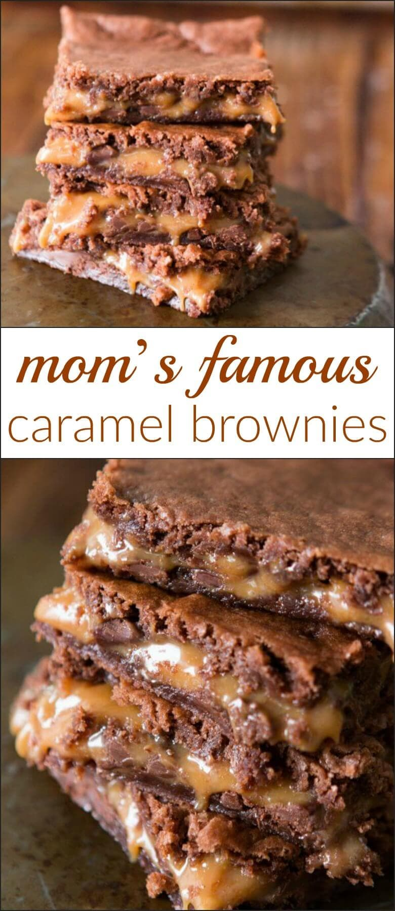 Everyone couldn't wait to get their hands on Mom's caramel brownies. She's known for them, they are that good. ohsweetbasil.com