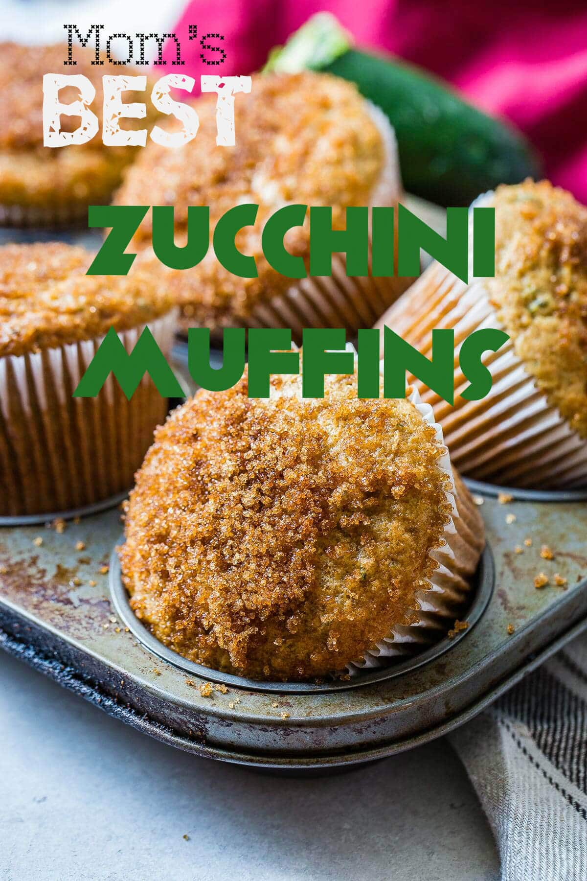 Mom's best zucchini muffins only need a few ingredients but the sour cream is the most important part. Looking for recipe ideas using zucchini? Make these muffins!