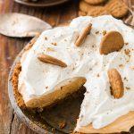 No Bake Pumpkin Pie with Gingersnap Crust