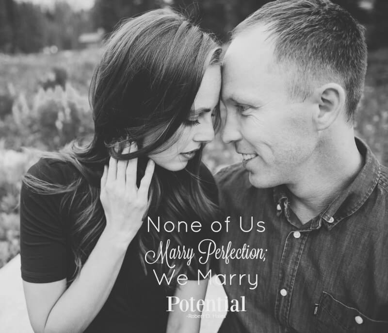 None of Us Marry Perfection; We Marry Potential is a headline that has popped into my mind for over 6 months now. I've been too afraid to publish until now. ohsweetbasil.com