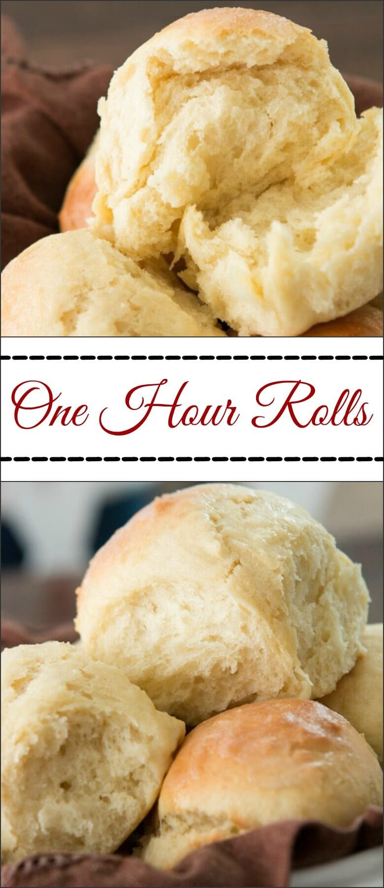 On a time crunch but still want soft and fluffy rolls for dinner tonight? These one hour rolls are soft and fluffy perfection! ohsweetbasil.com