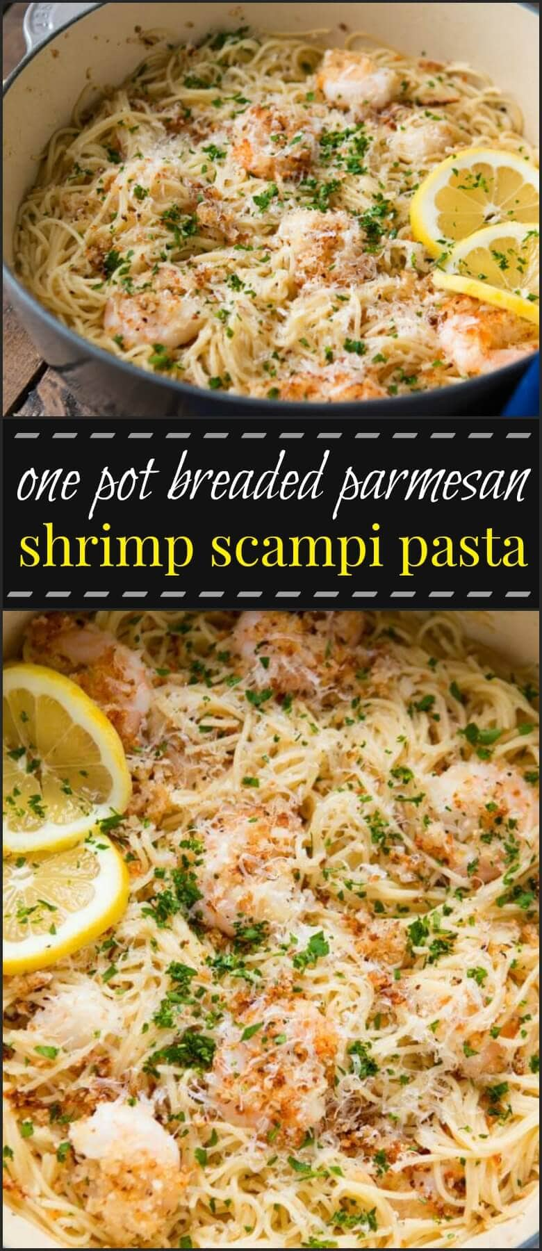 If there's one thing I know, it's that people love their shrimp pasta, but this one pot breaded parmesan shrimp scampi pasta takes it to a whole new level.