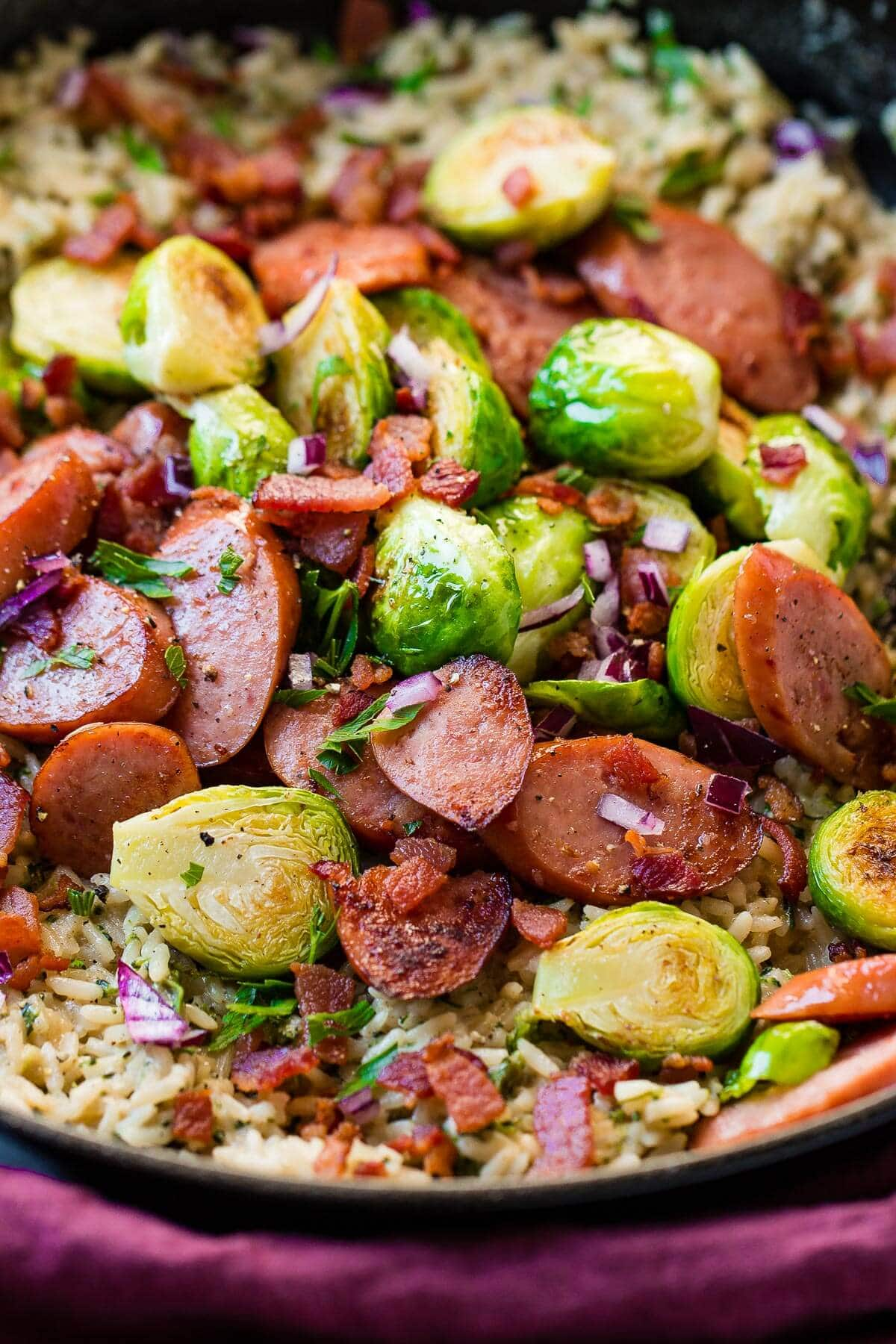 I can't believe I ate the whole thing! Actually, I can and I'll do it again. This is such an easy one skillet cheddar broccoli rice with kielbasa recipe!