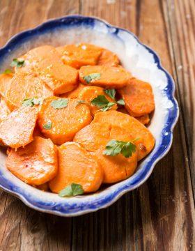 Orange Glazed Sweet Potatoes ohsweetbasil.com