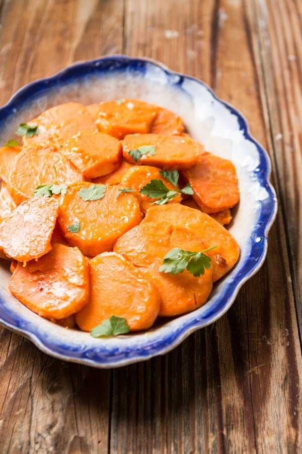 No need for these orange glazed sweet potatoes to be saved just for your holiday festivities, they make for a great addition to any meal!