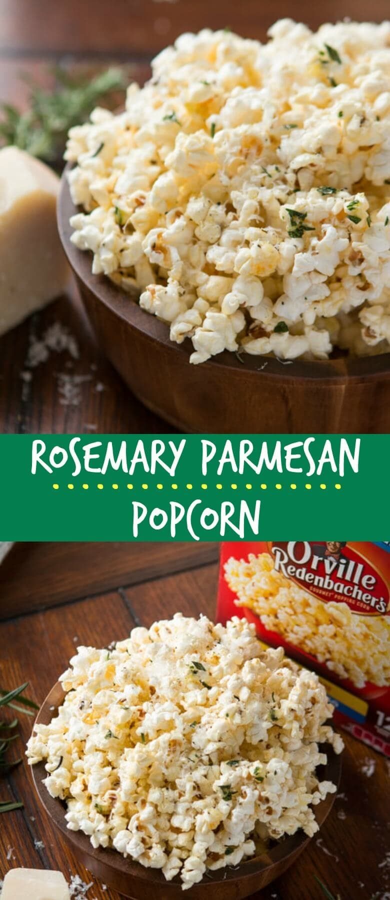Everyone goes nuts for our Marshmallow Popcorn so it was high time to find the best savory popcorn recipe, and this rosemary parmesan popcorn is it!