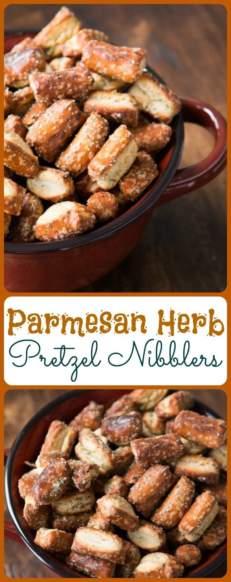 Parmesan Herb Pretzel Nibblers are more addicting than they should be. We can't keep the bowl full at parties and gatherings and soon you'll know why! ohsweetbasil.com