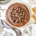 Easy No-Bake Peanut Butter Nutella Cheesecake