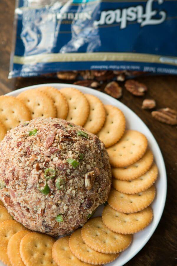 You'll be everyone's favorite when you show up at a party with this BBQ Bacon Cheese ball! It's easy to throw together, and simple flavors everyone likes.