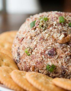 BBQ Bacon Cheese Ball ohsweetbasil.com