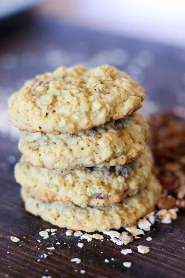Pecan oatmeal cookies are the best! Chewy, nutty, and packed with oatmeal flavor. These easy to make cookies will become a family favorite in no time!.