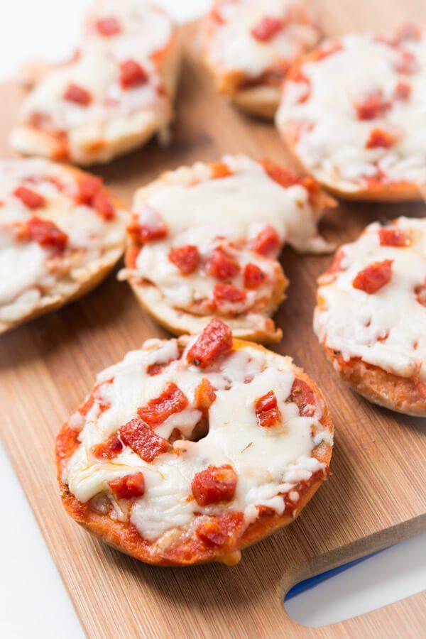 Pepperoni Bagel Bites Pizzas Oh Sweet Basil