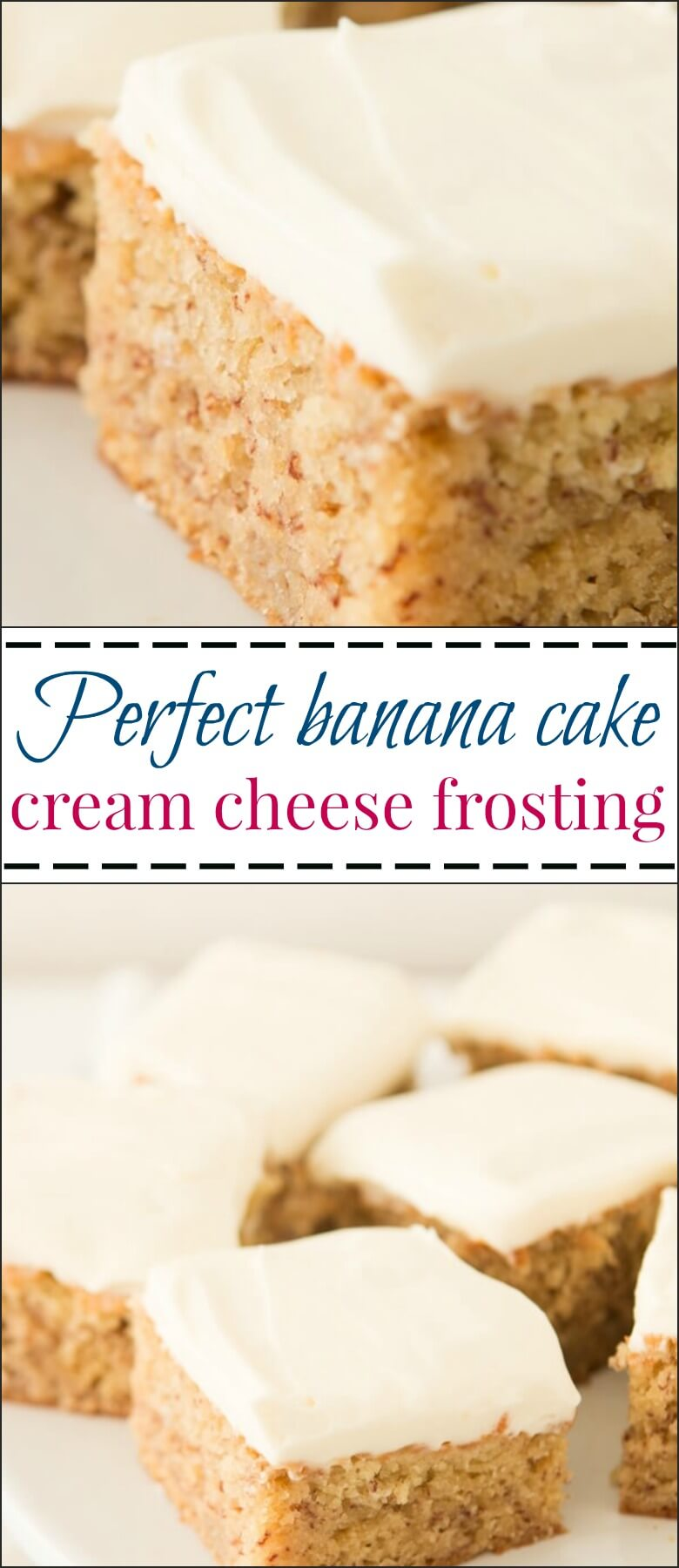 Perfect Banana Cake with Cream Cheese Frosting - Oh Sweet ...