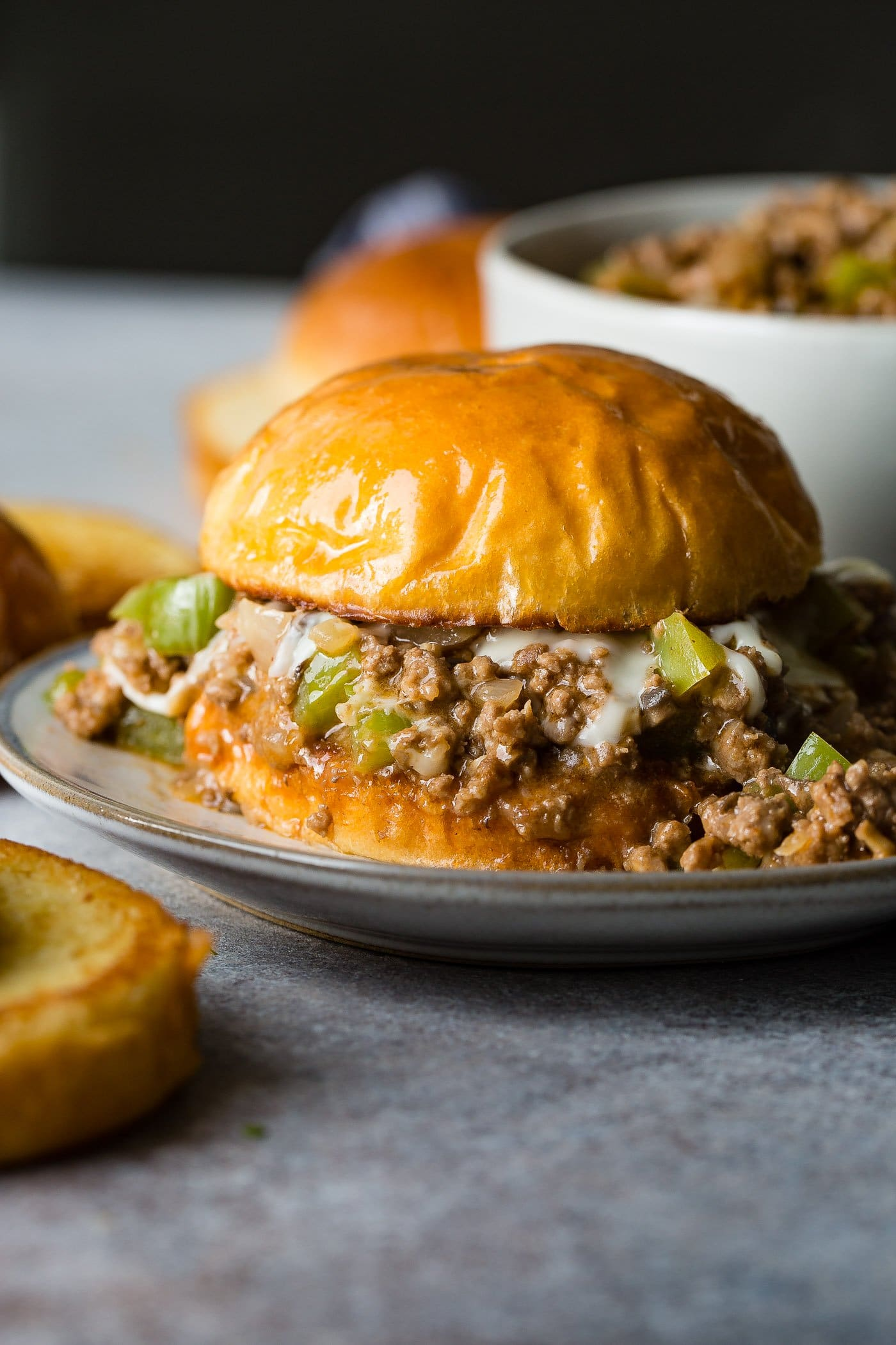 Philly Cheesesteak Sloppy Joes Oh Sweet Basil