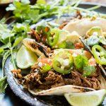 Poblano Braised Beef Tacos