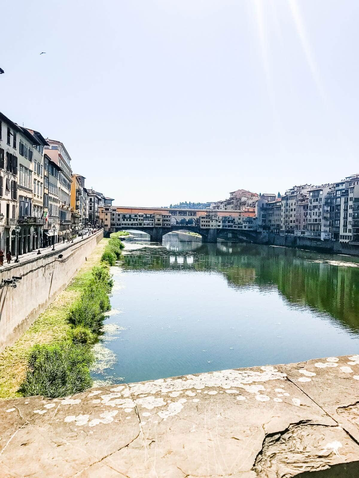 Ponte Vecchio view in Florence Italy ohsweetbasil.com