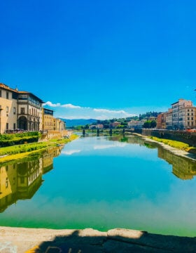 Ponte Vecchio in Florence Italy is a must see for anyone visiting. Make sure you take a moment to go to the edge of the bridge and take in the beauty of the arno river ohsweetbasil.com