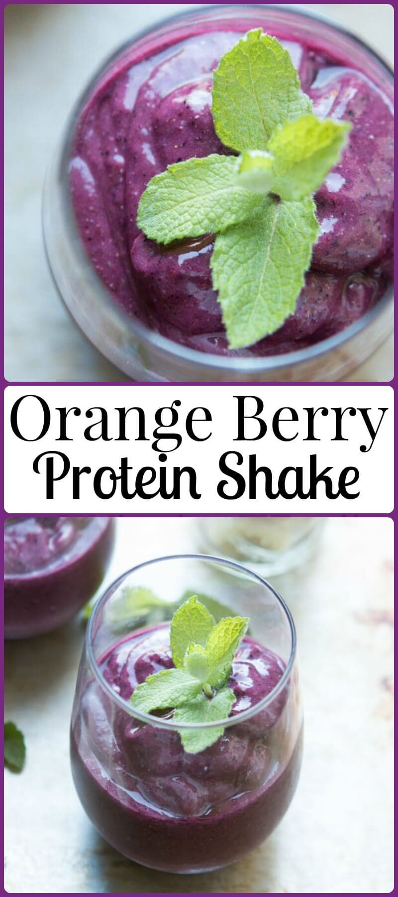 Did you know that oranges can help you to have a happier and healthier day? Our bright orange berry protein shake proves it! ohsweetbasil.com