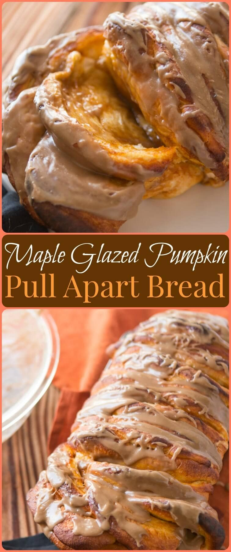 This stuff is amazing. We are switching up our traditions and making maple glazed pumpkin pull apart bread for holiday breakfasts because it's that good! ohsweetbasil.com