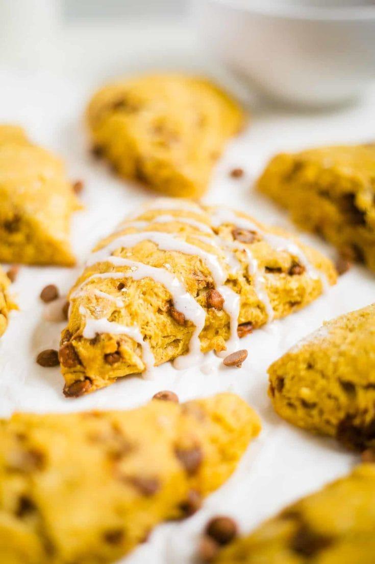 Pumpkin Cinnamon Chip Scones