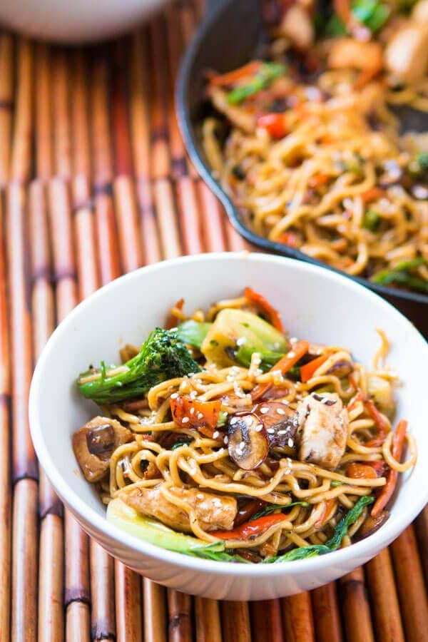 Only got 15 minutes to whip together a fresh and yummy dinner? Try our quick and easy 15 minute chicken stir fry and ditch the grilled cheese. ohsweetbasil.com