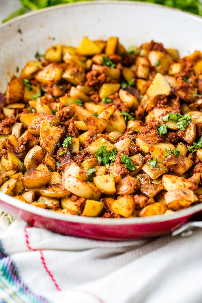 Easy 10 Ingredient Chorizo Potatoes