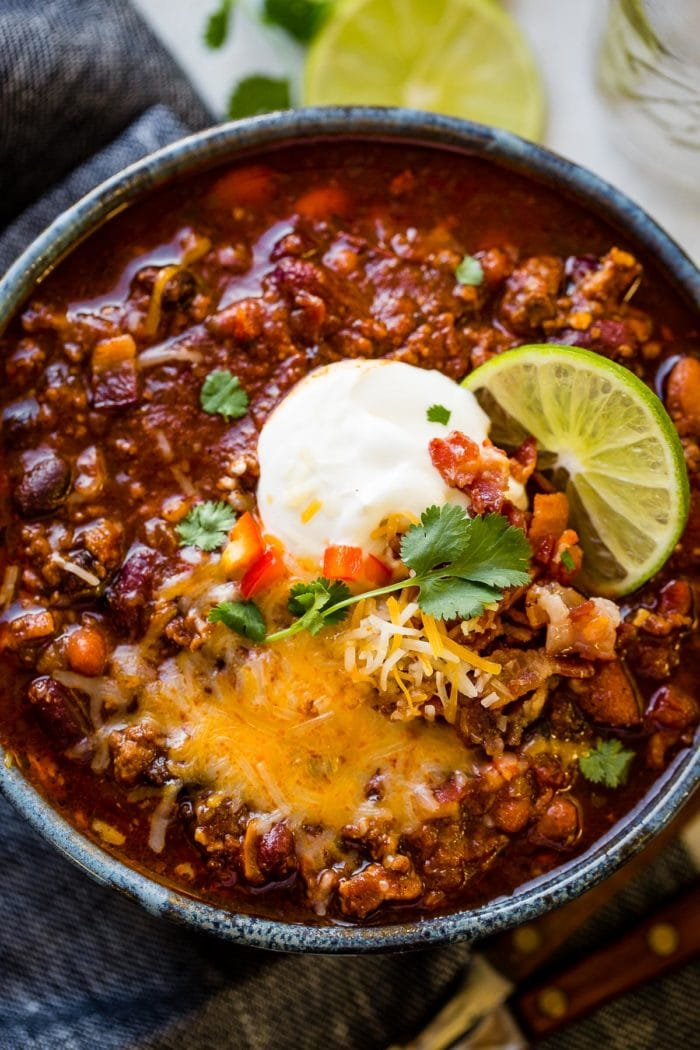 We recently attended a chili cook-off which kicked my obsession with finding an Award Winning Instant Pot Chili Recipe into high gear.