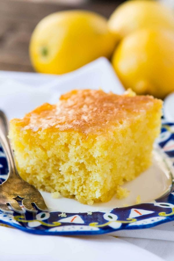 Lemon Cake With Lemon Jello
