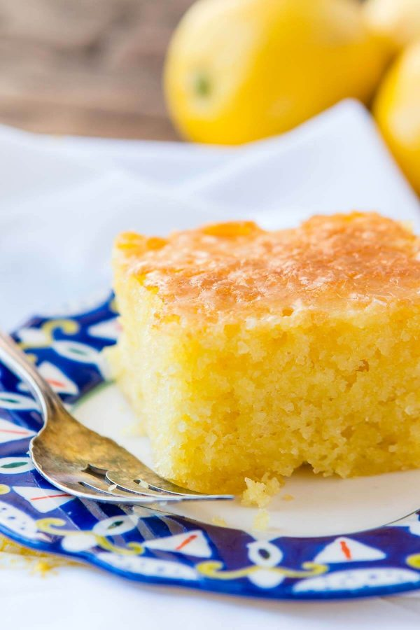 quick and easy, moist lemon jello cake is pretty much our all time favorite dessert right now!