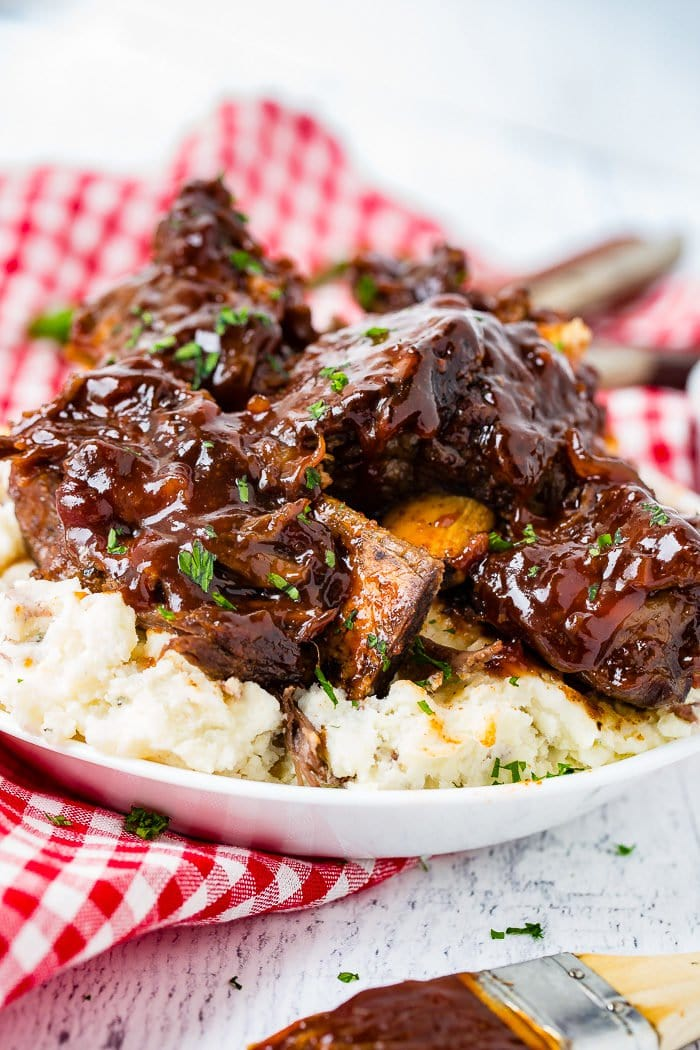 Sticky Bbq Instant Pot Bone In Beef Short Ribs