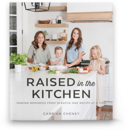 Raised in the Kitchen cookbook giveaway graphic