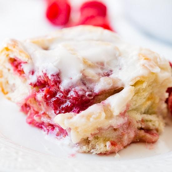 Easy Raspberry Sweet Rolls
