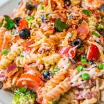 Easy Bacon Chicken Ranch Pasta Salad