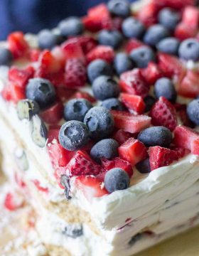 The best 4th of July dessert! Icebox cake is an easy summer treat your friends and family will love. With a few ingredients you can make this recipe in under 20 minutes.
