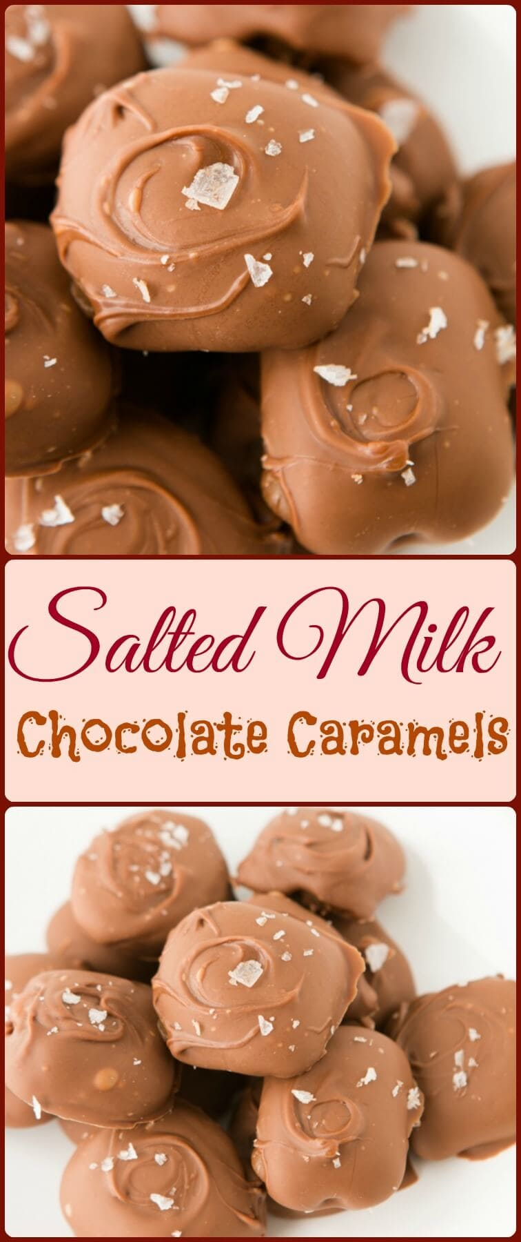Easy caramels in a milk chocolate shell with a touch of sea salt. Oh sweet basil.com