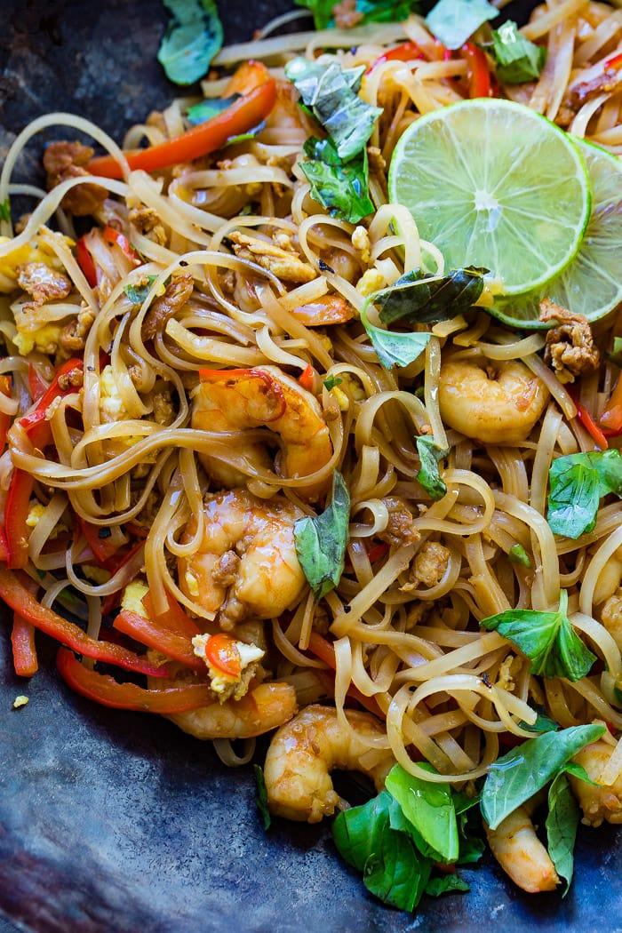 One Pan Simple Asian Shrimp Noodles