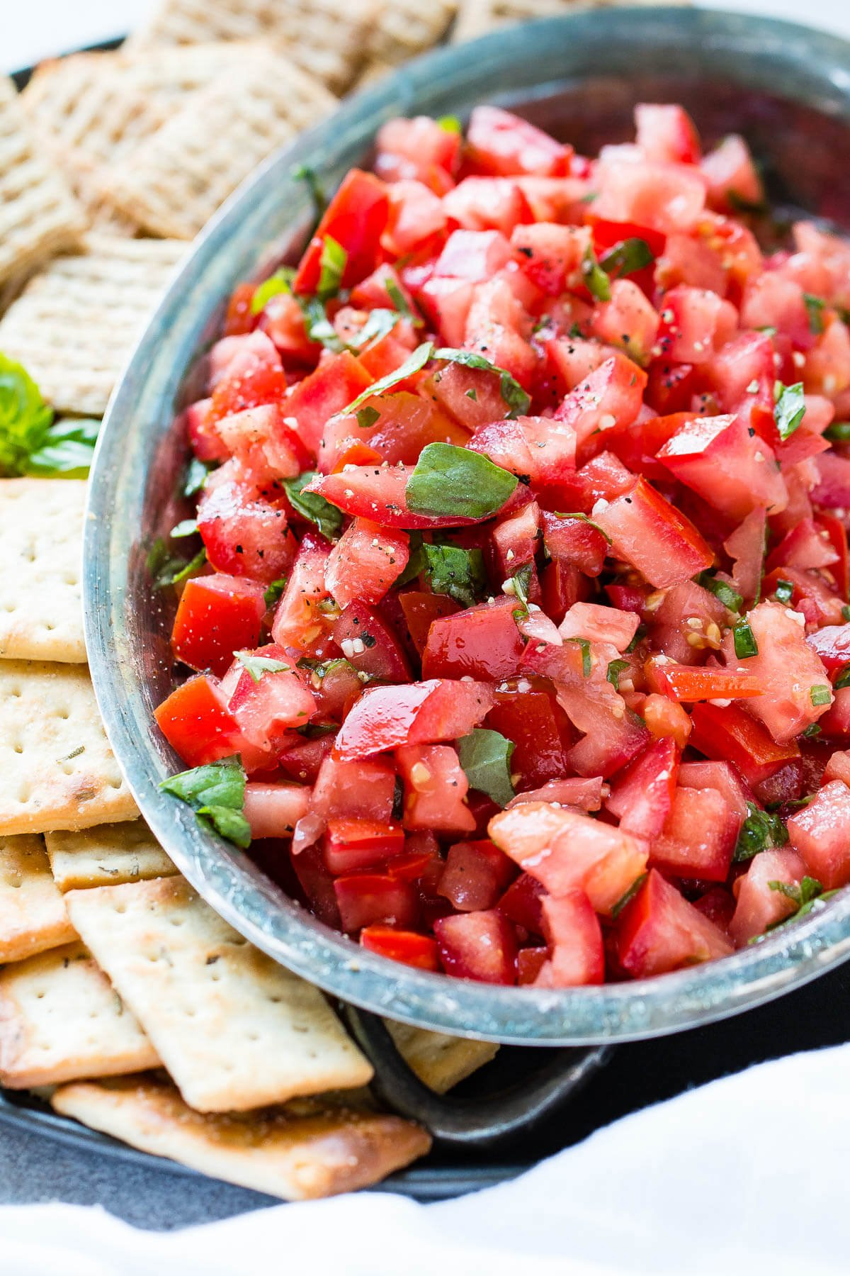 It doesn't take traveling to Italy to know that the simple, classic bruschetta appetizer recipe is the perfect way to use summer tomatoes or impress holiday guests. ohsweetbasil.com