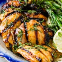 Grilled Honey Lemon Basil Chicken