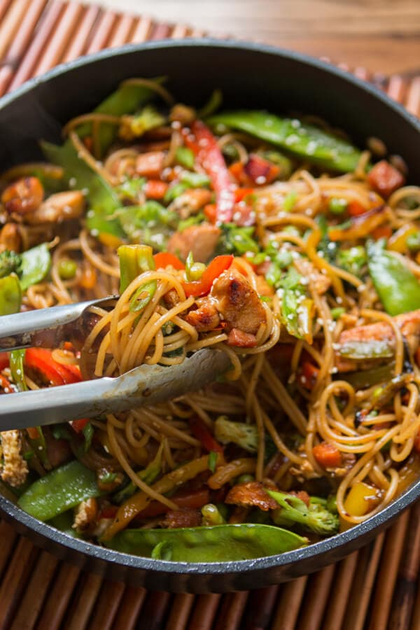 Teriyaki Chicken Noodles Oh Sweet Basil