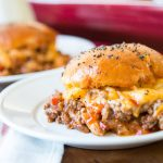 Cheesy Sloppy Joe Sliders