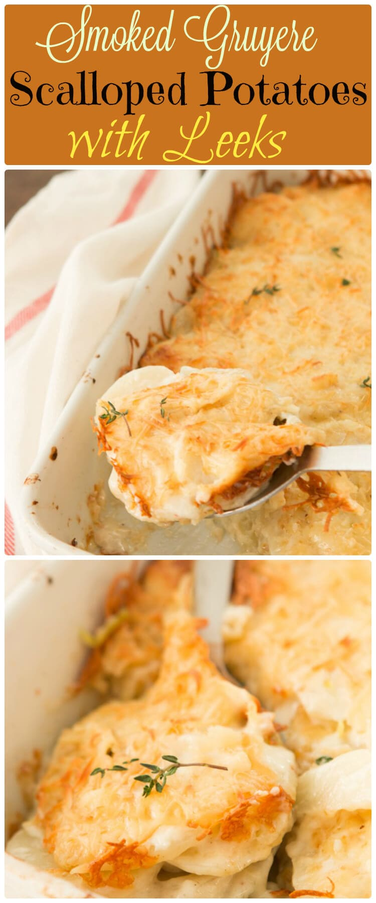 ... these smoked gruyere scalloped potatoes with leeks! ohsweetbasil.com