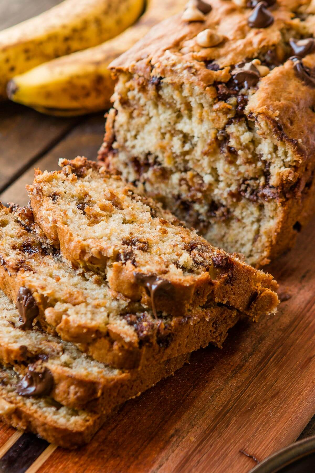 Peanut butter banana bread ohsweetbasil.com