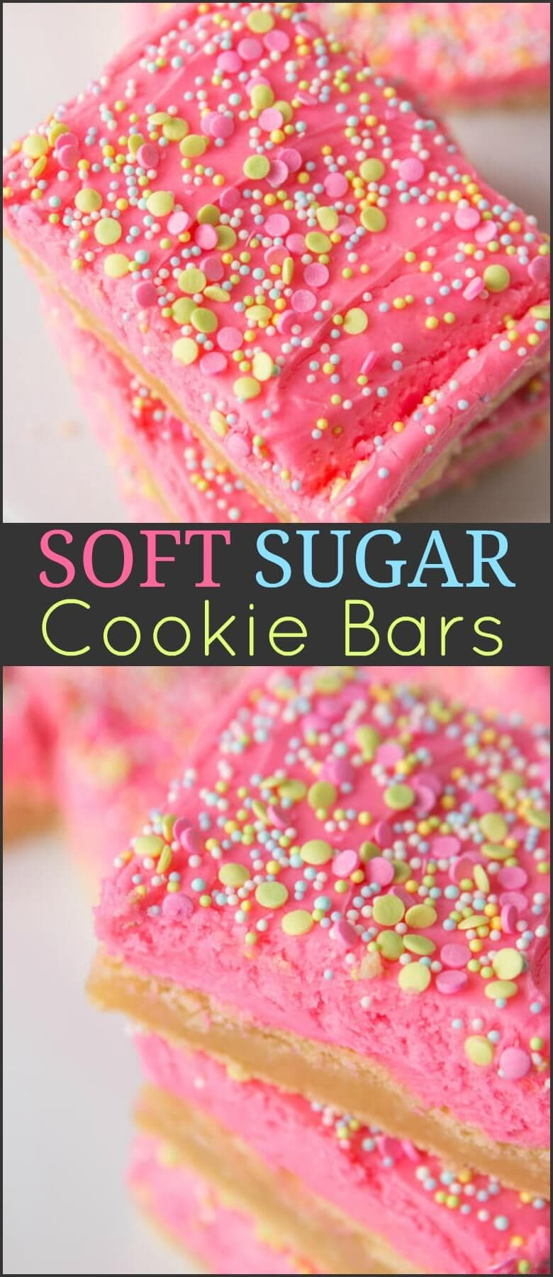 It took us a few years to be ready to share our favorite soft sugar cookie bars recipe because it had to be perfectly soft and perfectly delicious. ohsweetbasil.com