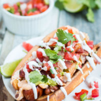 Have you ever made a sonoran hot dog? It's got literally everything you could imagine on it and ohhhhh it's good! ohsweetbasil.com