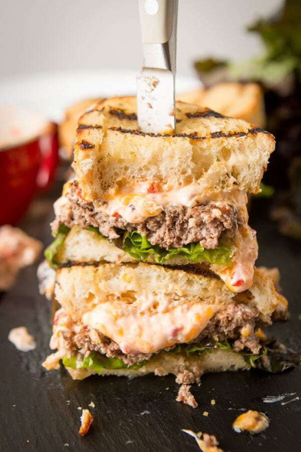 Every year we bring the best burger of the summer. This year is a Southern Pimento Cheeseburger on Texas Toast that you've grilled! ohsweetbasil.com