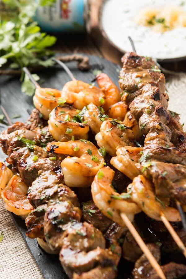 recipe: easy steak and shrimp kabobs [4]