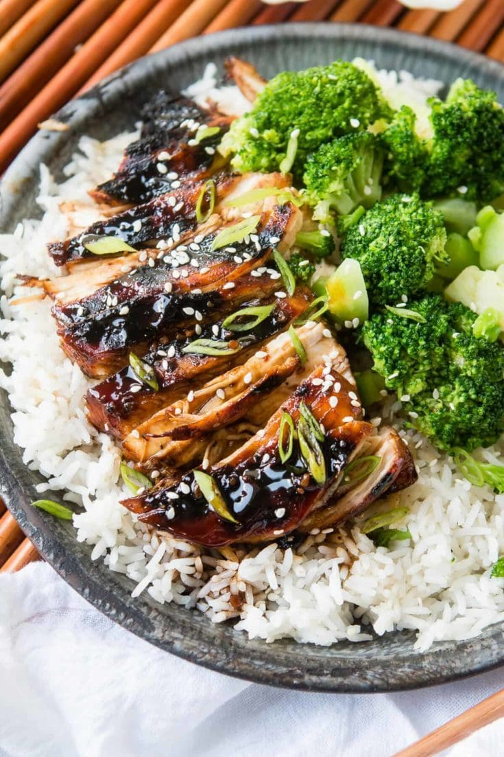 Sticky Asian Grilled Chicken Breasts