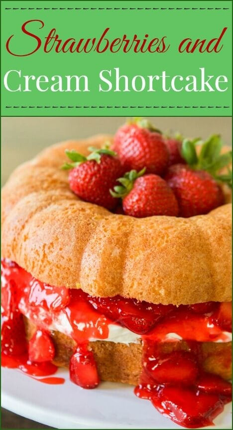 You can make a regular cake, cupcakes, bundt cake or even a layered cake and turn it into strawberries and cream shortcake!