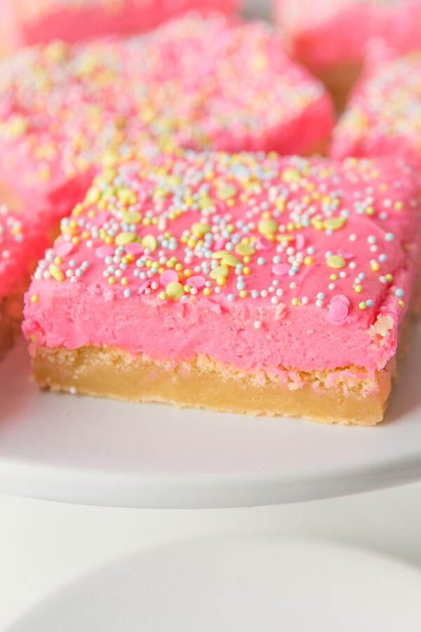 It took us a few years to be ready to share our favorite soft sugar cookie bars recipe because it had to be perfectly soft and perfectly delicious.